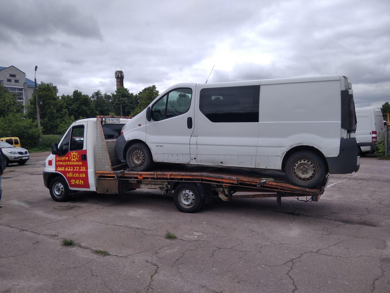 перевозка микроавтобуса эвакуатор в Чернигове