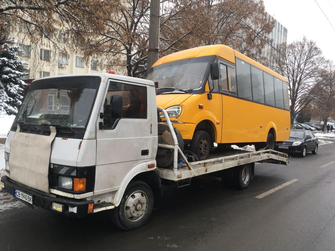 Грузовой эвакуатор в Чернигове и области